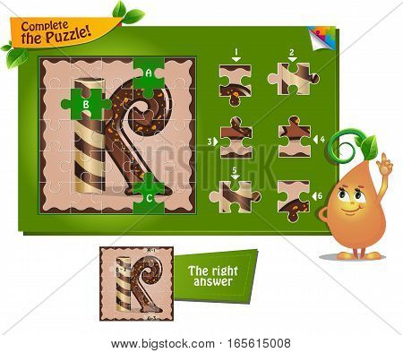 Puzzle Letters Of The Alphabet K