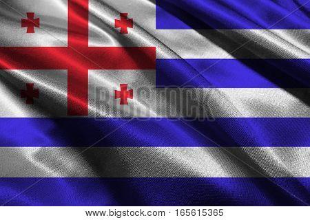 Adjara flag , Adjara national flag 3D illustration symbol.