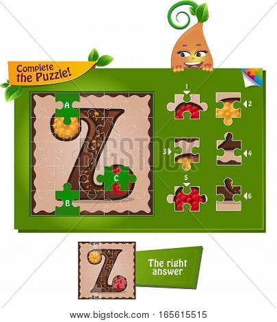 Puzzle Letters Of The Alphabet Z