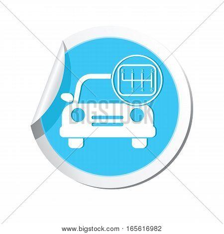 Car service symbol. Car with stick shift icon