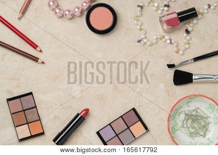 Dressing Table Flat Lay