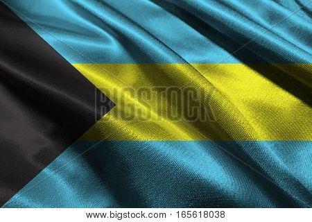 Bahamas flag 3D illustration symbol, 3D Bahamas flag