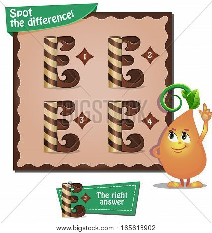 Spot The Difference Letters E