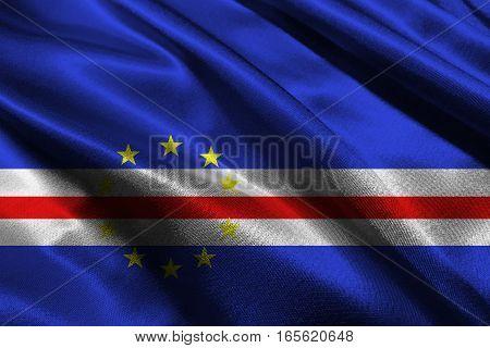 Cape verde flag ,3D Cape verde national flag 3D illustration symbol