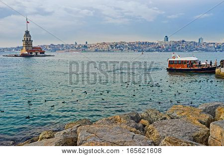 The Rocky Shore On Bosphorus