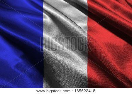France flag ,3D France national flag 3D illustration symbol.