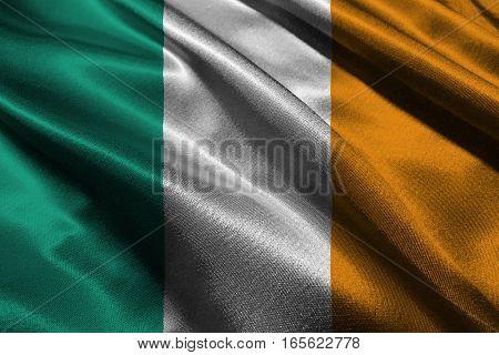 Ireland flag 3D illustration symbol. ,original and simple Ireland Nation flag