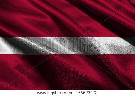 Latvia national flag 3D illustration symbol. Latvia flag