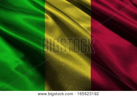 Mali national flag 3D illustration symbol. Mali flag.