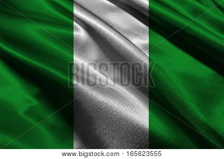 Nigeria flag ,Nigeria national flag 3D illustration symbol