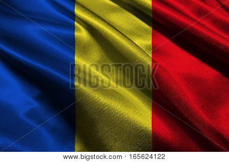 Chad flag ,Chad national flag 3D illustration symbol.