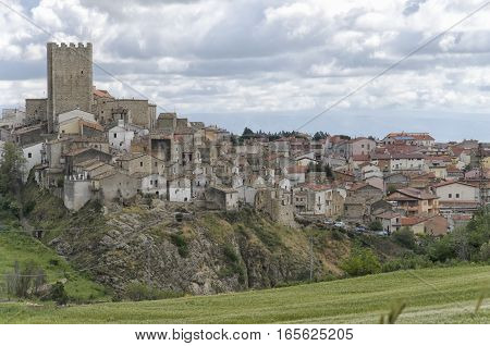 View of the typical town of Pietramontecorvino