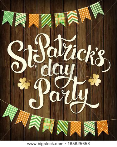 Happy St. Patrick's Day party. Vector design.