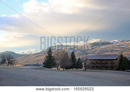 Wasatch Front mountains, Utah, in the winter
