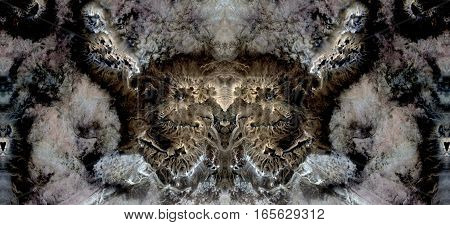 Effects of wind erosion on desert rocks, symmetrical photographs of landscapes of the deserts of Africa from the air, magical, artistic, landscapes of your mind, just for crazy, optical illusions