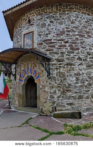 Entrance of ancient church in monastery
