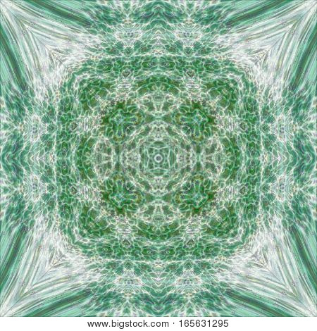 Green hippie boho esoteric calming symmetry tile background design