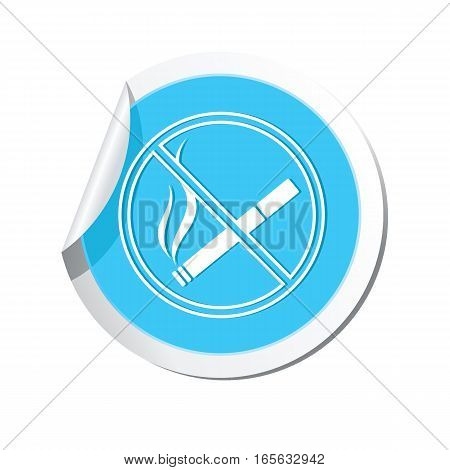 No smoking sign icon on the sticker