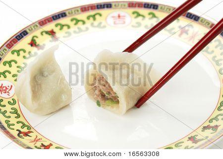Asian Dumplings in a plate.