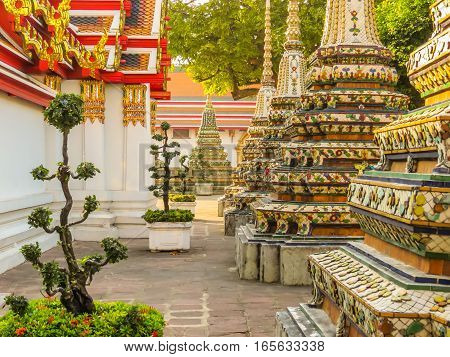 Wat Pho Temple or Temple of the Reclining Buddha, Bangkok, Thailand