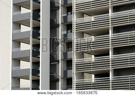 MILAN, ITALY - AUGUST 8, 2016: Milan (Lombardy Italy): modern residential buildings in the new Portello area
