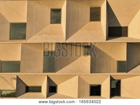 LEON, SPAIN - JULY 26, 2016: Leon (Castilla y Leon Spain): exterior of the modern Auditorium in the Park Explanada de la Junta