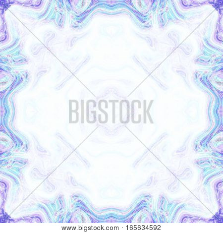 Psychedelic radiant blue delicate contour frame framed texture background