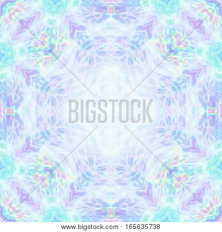 Delicate nostalgic blue and pink pastel mandala square background