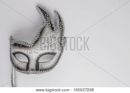 Carnival mask for carnival on white background