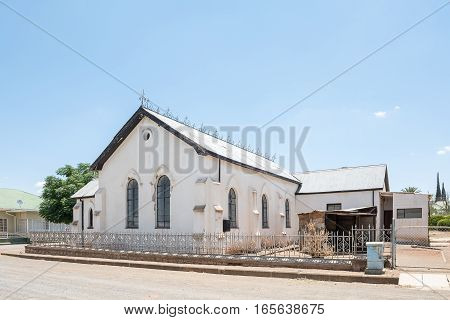An historic old church in Jagersfontein a diamond mining town in the Free State Province of South Africa