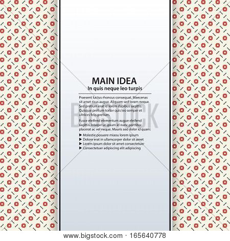 Text Background With Colorful Pattern. Useful For Presentations, Advertising And Web Design.