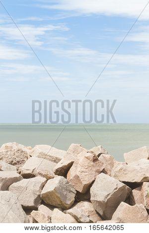 Breakwater At Cassino Beach
