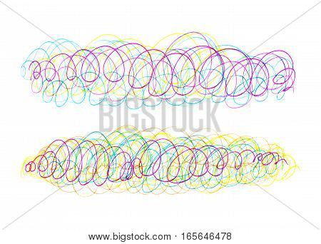 Abstract background with bright colorful mess and swirl pattern for design