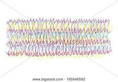 Abstract background with bright colorful hand drawn scribble pattern for design