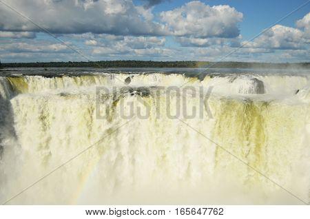 La garganta del diablo, the strongest fall in Iguazú Falls, Argentina.