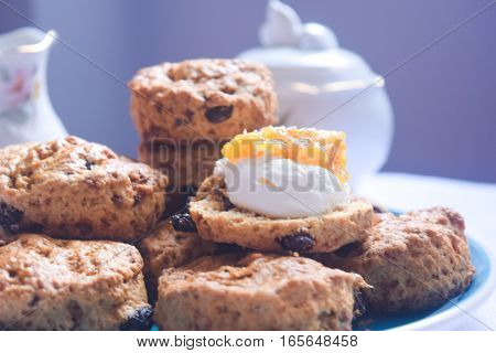 British scones are often lightly sweetened, but may also be savoury. They frequently include raisins, currants, cheese or dates