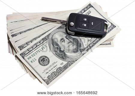 the car keys are on the money