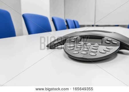 Black IP conference device the the meeting room