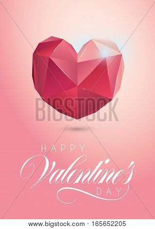 Low Poly Heart Design for Valentine's Day
