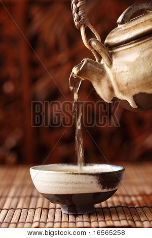 China tea serving,Shallow Dof.