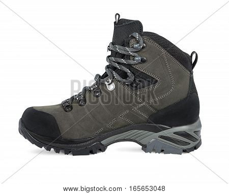 Shoe for hiking. Isolated on white background