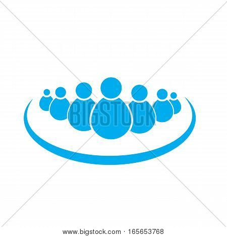 group people on white background. group people sign.
