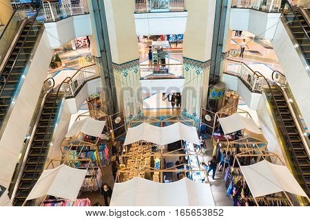 Chiangmai Thailand- Dec 30 2016: People while shopping at zone in front of the elevator at Central airport Chiangmai mall Thailand.