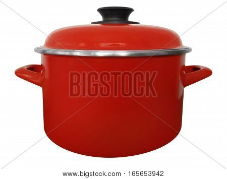 Saucepan Isolated - Red
