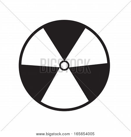 radiation symbol of activity on white background. radiation symbol of activity sign.