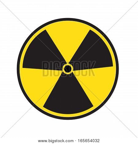 radiation symbol of activity on white background. radiation symbol.