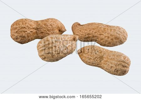Groundnuts group isolated on a white background