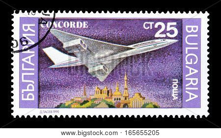 BULGARIA - CIRCA 1990 : Cancelled postage stamp printed by Bulgaria, that shows Airplane.