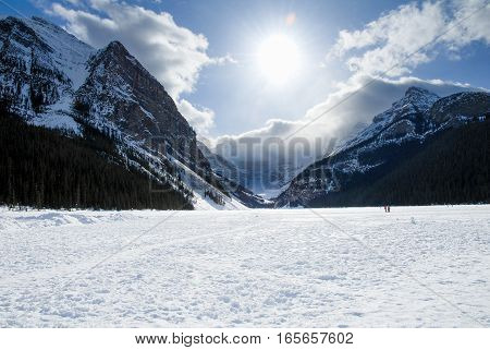 Lake Louise in Winter Banff National Park Canadian Rockies