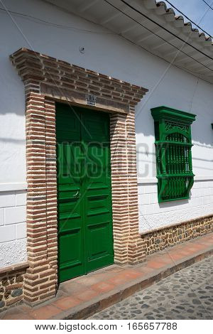 colonial style architectural details in Santa Fe de Antioquia Colombia